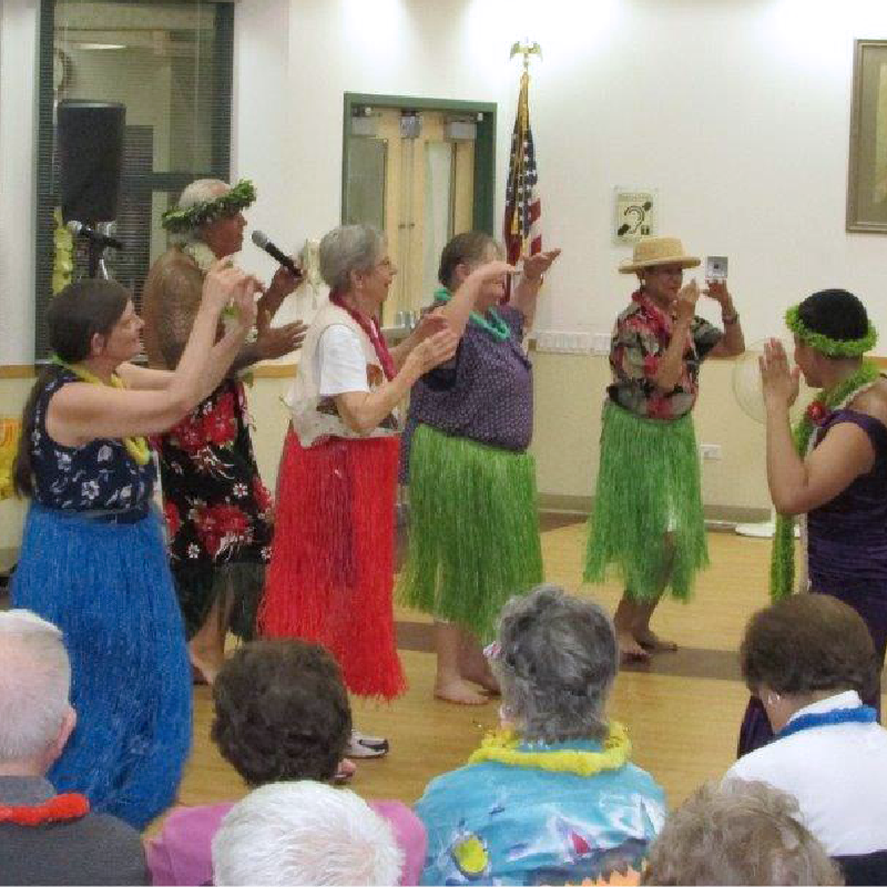 Senior Hula Dancers